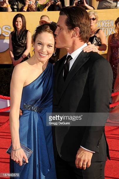 Actors Diane Lane and Josh Brolin arrive at 18th Annual Screen Actors Guild Awards at The Shrine Auditorium on January 29, 2012 in Los Angeles,...