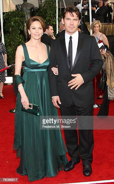 Actors Diane Lane and Josh Brolin arrive at the 14th annual Screen Actors Guild awards held at the Shrine Auditorium on January 27, 2008 in Los...