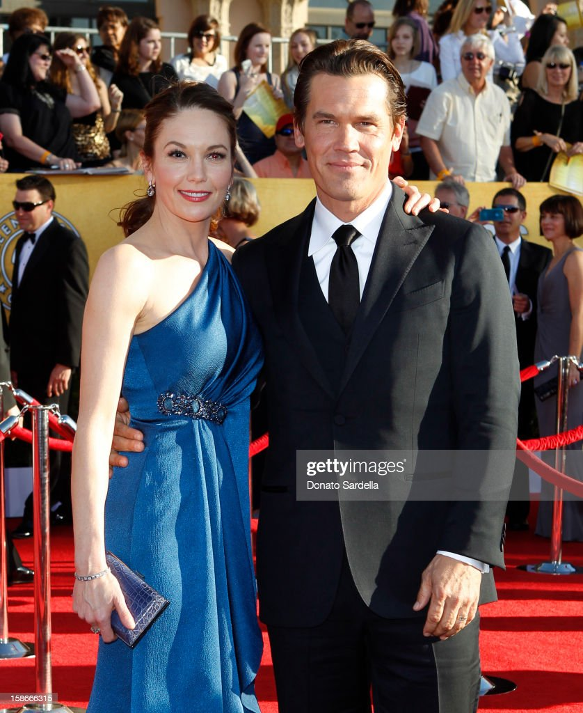 Actors Diane Lane (L) and Josh Brolin arrive at the 18th Annual Screen Actors Guild Awards held at The Shrine Auditorium on January 29, 2012 in Los Angeles, California.