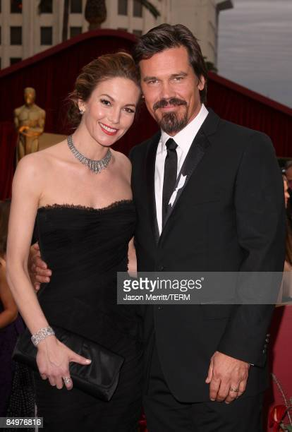 Actors Diane Lane and Josh Brolin arrive at the 81st Annual Academy Awards held at Kodak Theatre on February 22 2009 in Los Angeles California