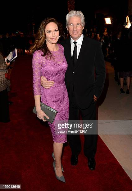 Actors Diane Lane and Richard Gere arrive at the 24th annual Palm Springs International Film Festival Awards Gala at the Palm Springs Convention...