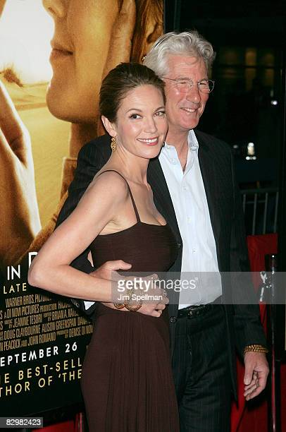 Actors Diane Lane and Richard Gere attend the premiere of Miracle at St Anna at Ziegfeld Theatre on September 22 2008 in New York City