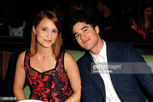 Actors Dianna Agron and Darren Criss attend Vogue's Triple Threats dinner hosted by Sally Singer and Lisa Love at Goldie's on April 3 2013 in Los...