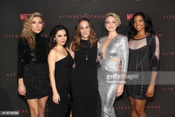 Actors Dichen Lachman Martha Higareda executive producer creator Laeta Kalogridis Kristin Lehman and Renée Elise Goldsberry attend the World Premiere...