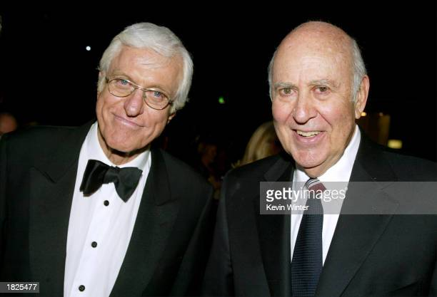 Actors Dick Van Dyke and Carl Reiner pose during the TV Land Awards 2003 at the Hollywood Palladium on March 2 2003 in Hollywood California
