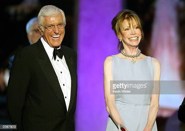 Actors Dick Van Dyke and Mary Tyler Moore accept the Legend Award for 'The Dick Van Dyke Show' during the TV Land Awards 2003 at the Hollywood...
