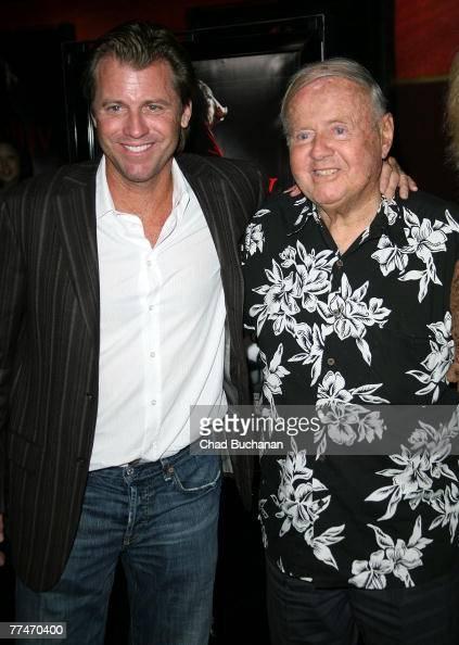 Actors Dick Van Patten and son Vincent Van Patten attend