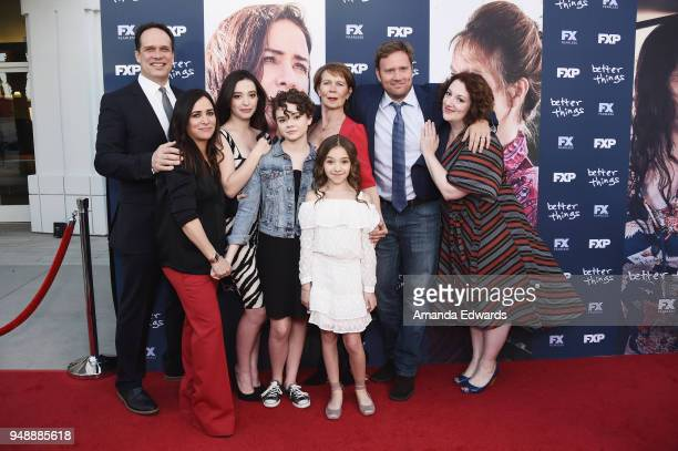 Actors Diedrich Bader Pamela Adlon Mikey Madison Hannah Alligood Celia Imrie Olivia Edward Greg Cromer and Rebecca Metz arrive at the FYC Event for...