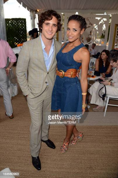 Actors Diego Boneta and Dania Ramirez attend the Third Annual Veuve Clicquot Polo Classic at Will Rogers State Historic Park on October 6 2012 in...