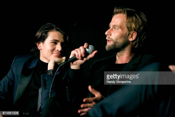 Actors Diego Josef and Joe Anderson speak on stage during AFI Fest's Los Angeles premiere of The Ballad Of Lefty Brown on November 14 2017 in Los...