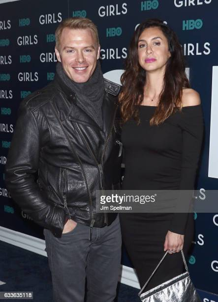Actors Diego Klattenhoff and Mozhan Marno attend the the New York premiere of the sixth and final season of Girls at Alice Tully Hall Lincoln Center...