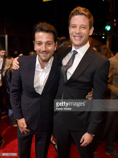Actors Diego Luna and James Norton arrive at the premiere of Columbia Pictures' 'Flatliners' at the Ace Theatre on September 27 2017 in Los Angeles...