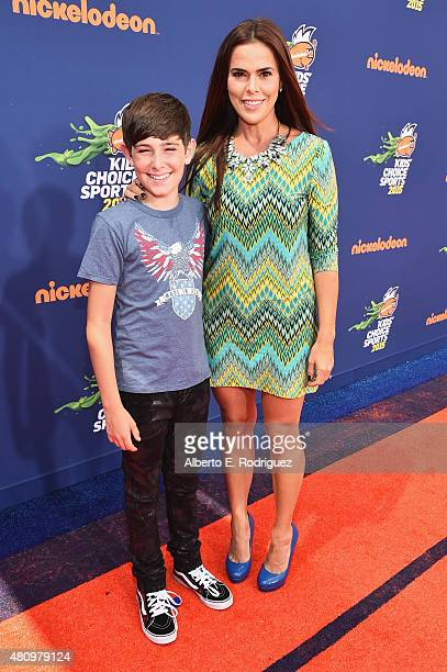 Actors Diego Velazquez and Rosa Blasi attend the Nickelodeon Kids' Choice Sports Awards 2015 at UCLA's Pauley Pavilion on July 16 2015 in Westwood...