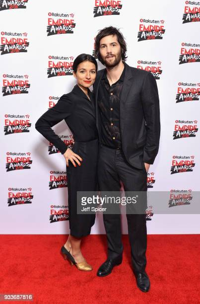Actors Dina Mousawi and Jim Sturgess attend the Rakuten TV EMPIRE Awards 2018 at The Roundhouse on March 18 2018 in London England