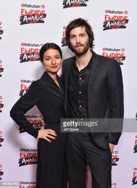 Actors Dina Mousawi and Jim Sturgess attend the Rakuten TV EMPIRE Awards 2018 at The Roundhouse on March 18, 2018 in London, England.