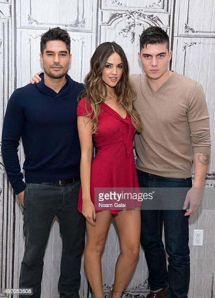 Actors DJ Cotrona Eiza Gonzalez and Zane Holtz of 'From Dusk Til Dawn The Series' attend AOL Build at AOL Studios in New York on October 9 2015 in...