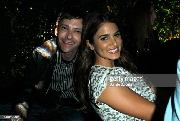 Actors DJ Qualls and Nikki Reed attend the BlackBerry Torch from ATT US Launch Party on August 11 2010 in Los Angeles California
