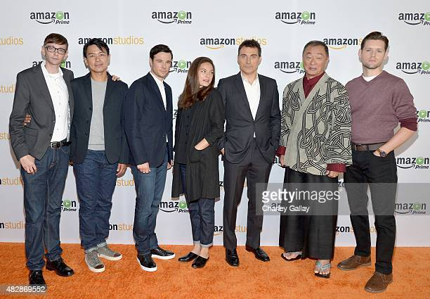 Actors DJ Qualls Joel De La Fuente Rupert Evans Alexa Davalos Rufus Sewell CaryHiroyuki Tagawa and Luke Kleintank attend the 'The Man In The High...