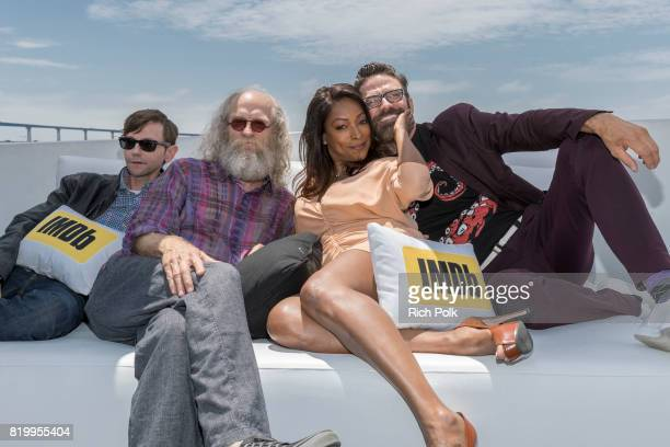 Actors DJ Qualls Russell Hodgkinson Kellita Smith and Keith Allan at the #IMDboat At San Diego ComicCon 2017 on the IMDb Yacht on July 20 2017 in San...