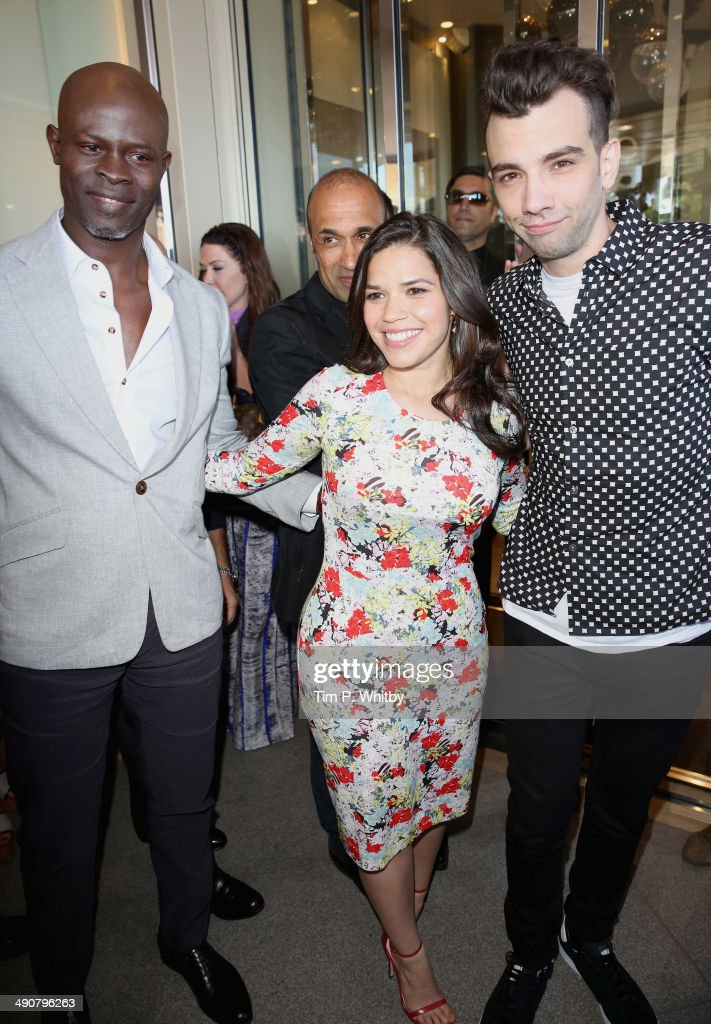 How to train your dragon 2 stunt the 67th annual cannes fi10 actors djimon hounsou america ferrera and jay baruchel attend the how to train your ccuart Image collections