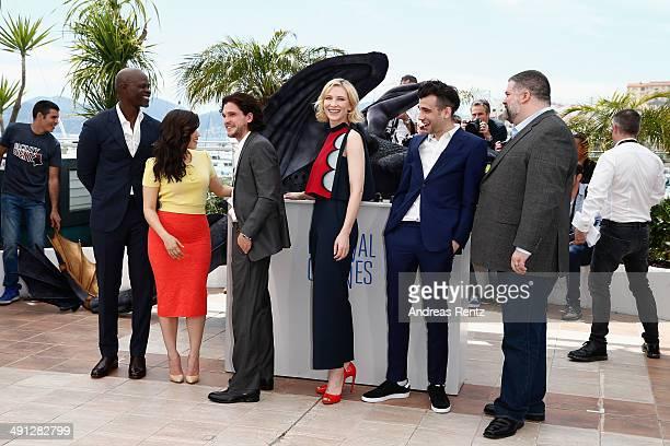 Actors Djimon Hounsou America Ferrera Kit Harington Cate Blanchett Jay Baruchel and director Dean DeBlois attend the How To Train Your Dragon 2...