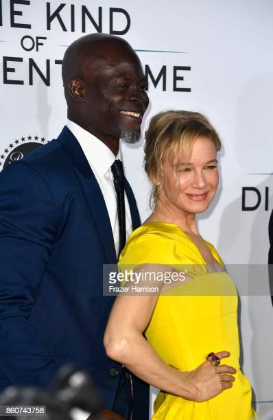 """Actors Djimon Hounsou and Renee Zellweger, attend the Premiere Of Paramount Pictures And Pure Flix Entertainment's """"Same Kind Of Different As Me"""" at..."""