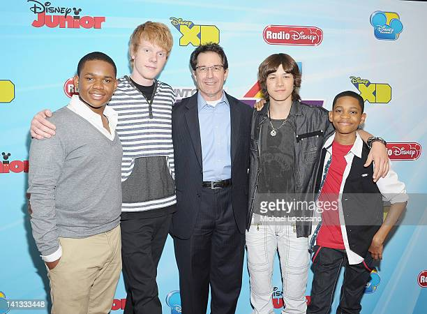 Actors Doc Shaw Adam Hicks Disney Channels Worldwide President and CCO Gary Marsh and actors Leo Howard and Tyler Jackson Williams attend the 201213...