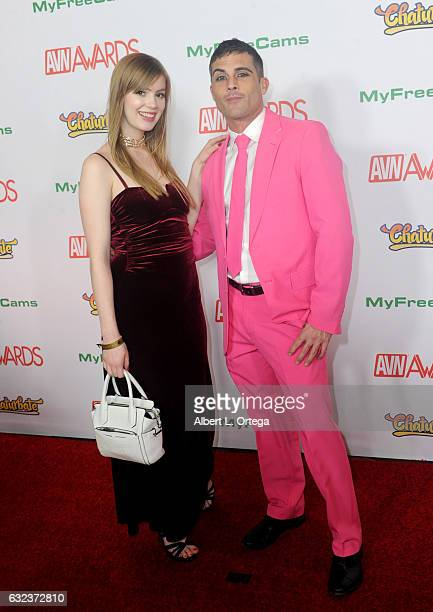 Actors Dolly Leigh and Lance Hart arrive at the 2017 Adult Video News Awards held at the Hard Rock Hotel Casino on January 21 2017 in Las Vegas Nevada