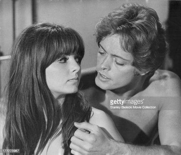 Actors Dolly Read and Michael Blodgett in a scene from the movie 'Beyond the Valley of the Dolls' 1970