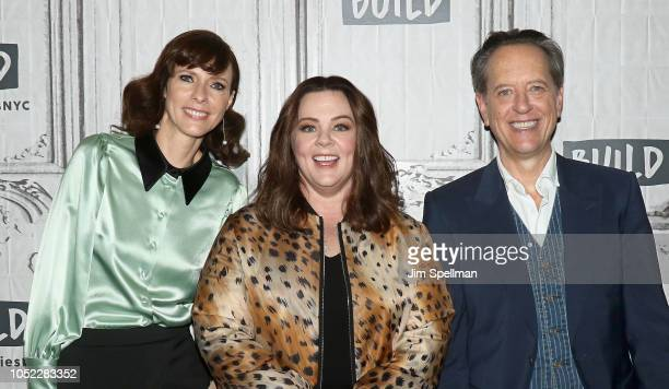 Actors Dolly Wells Melissa McCarthy and Richard E Grant attend the Build Series to discuss Can You Ever Forgive Me at Build Studio on October 16 2018...