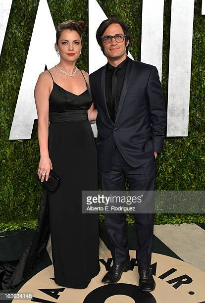 Actors Dolores Fonzi and Gael Garcia Bernal arrive at the 2013 Vanity Fair Oscar Party hosted by Graydon Carter at Sunset Tower on February 24 2013...