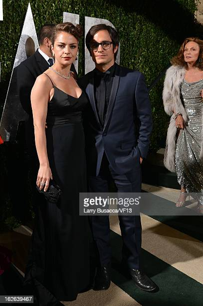 Actors Dolores Fonzi and Gael Garcia Bernal arrive for the 2013 Vanity Fair Oscar Party hosted by Graydon Carter at Sunset Tower on February 24 2013...