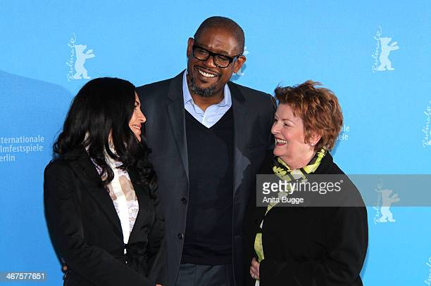 Actors Dolores Héredia Forest Whittaker and Brenda Blethyn attend the 'Two Men in Town' photocall during 64th Berlinale International Film Festival...