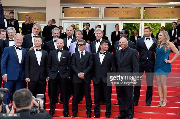 Actors Dolph Lundgren Mel Gibson director Patrick Hughes actors Sylvester Stallone Harrison Ford Wesley Snipes Kellan Lutz Ronda Rousey Kelsey...