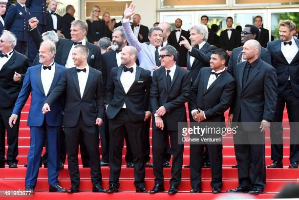 Actors Dolph Lundgren Mel Gibson director Patrick Hughes actors Sylvester Stallone Harrison Ford Wesley Snipes Kellan Lutz Kelsey Grammer Glen Powell...