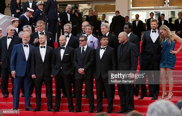 Actors Dolph Lundgren Mel Gibson director Patrick Hughes Sylvester Stallone Harrison Ford Wesley Snipes Kellan Lutz Ronda Rousey actors Kelsey...