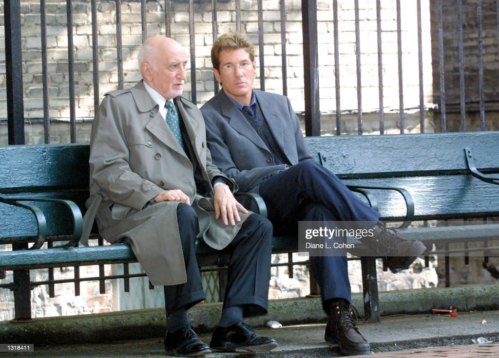 Actors Dominic Chianese, Left, And Richard Gere Film A Scene For The News Photo -2750