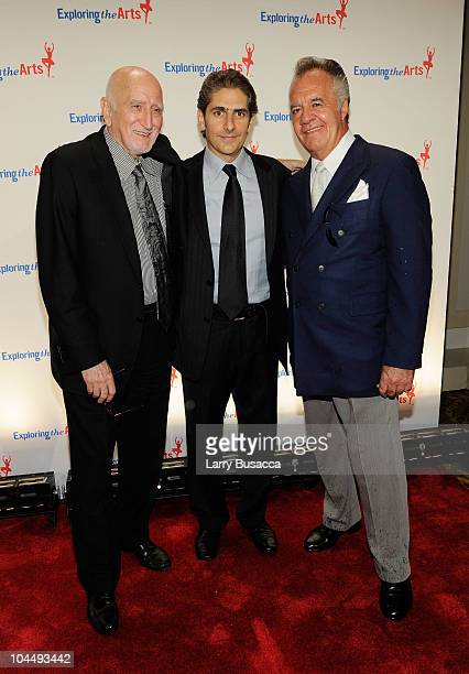 Actors Dominic Chianese Michael Imperioli and Tony Sirico attend the Exploring the Arts Gala at Cipriani Wall Street on September 27 2010 in New York...