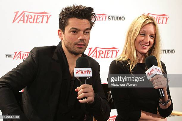 Actors Dominic Cooper and Ludivine Sagnier attend the Variety Studio At Sundance on January 24 2011 in Park City Utah