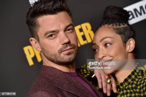 Actors Dominic Cooper and Ruth Negga arrive at AMC's 'Preacher' Season 3 Premiere Party at The Hearth and Hound on June 14 2018 in Los Angeles...