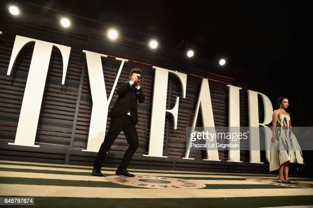 Actors Dominic Cooper and Ruth Negga attend the 2017 Vanity Fair Oscar Party hosted by Graydon Carter at Wallis Annenberg Center for the Performing...