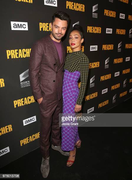 Actors Dominic Cooper and Ruth Negga attend the premiere of AMC's 'Preacher' Season 3 on June 14 2018 in Los Angeles California
