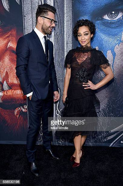 Actors Dominic Cooper and Ruth Negga attend the premiere of Universal Pictures' Warcraft at TCL Chinese Theatre IMAX on June 6 2016 in Hollywood...