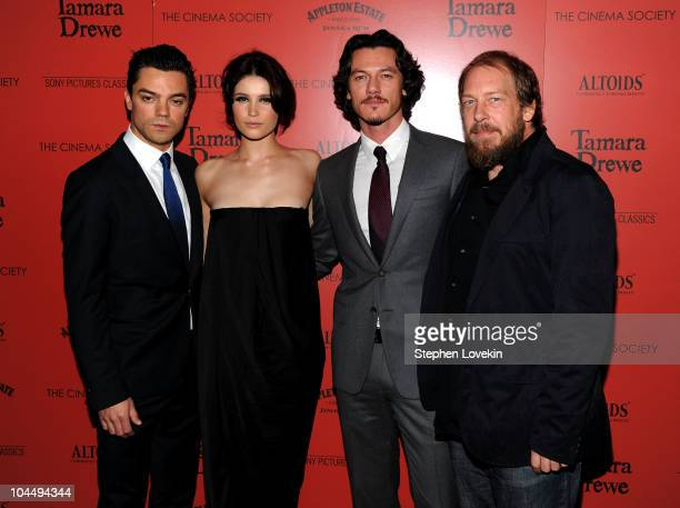 Actors Dominic Cooper Gemma Arterton Luke Evans and Bill Camp attend the Cinema Society and Altoids's screening of Tamara Drewe at the Crosby Street...