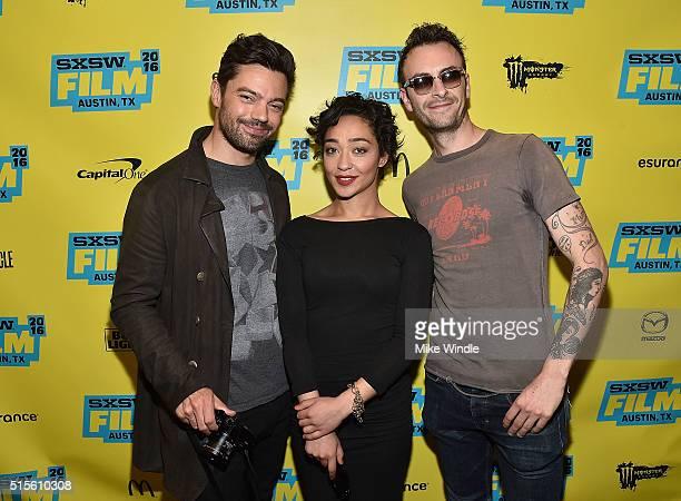 "Actors Dominic Cooper, Ruth Negga and Joseph Gilgun attend the screening of ""Preacher"" during the 2016 SXSW Music, Film + Interactive Festival at..."