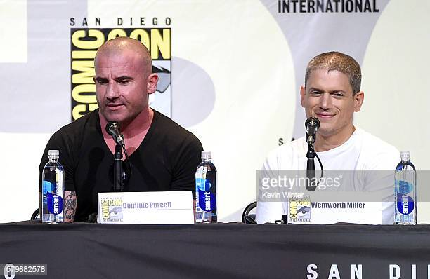 Actors Dominic Purcell and Wentworth Miller attend the Fox Action Showcase 'Prison Break' And '24 Legacy' during ComicCon International 2016 at San...