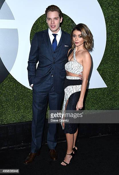 Actors Dominic Sherwood and Sarah Hyland attend the GQ 20th Anniversary Men Of The Year Party at Chateau Marmont on December 3 2015 in Los Angeles...