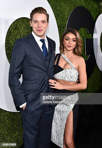 Actors Dominic Sherwood and Sarah Hyland attend the GQ