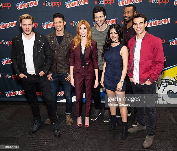 LR0 Actors Dominic Sherwood Harry Shum Jr Katherine McNamara Matthew Daddario Emeraude Toubia Isaiah Mustafa and Alberto Rosende attend the...