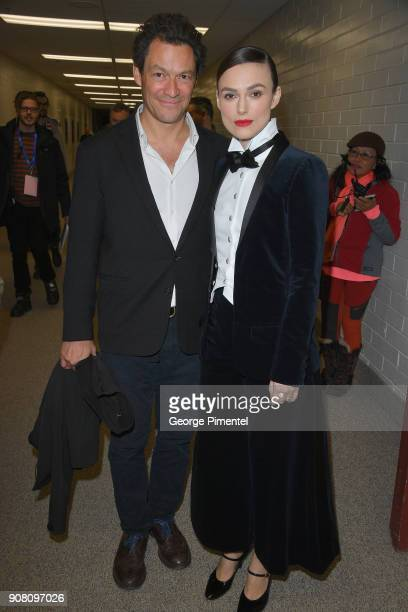 Actors Dominic West and Keira Knightley attend the 'Colette' Premiere during the 2018 Sundance Film Festival at Eccles Center Theatre on January 20...